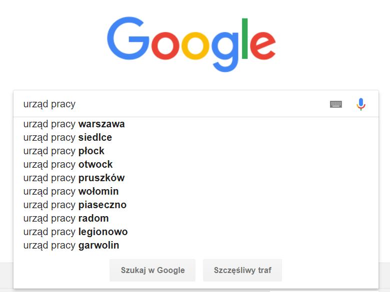 strony z ofertami pracy w Google