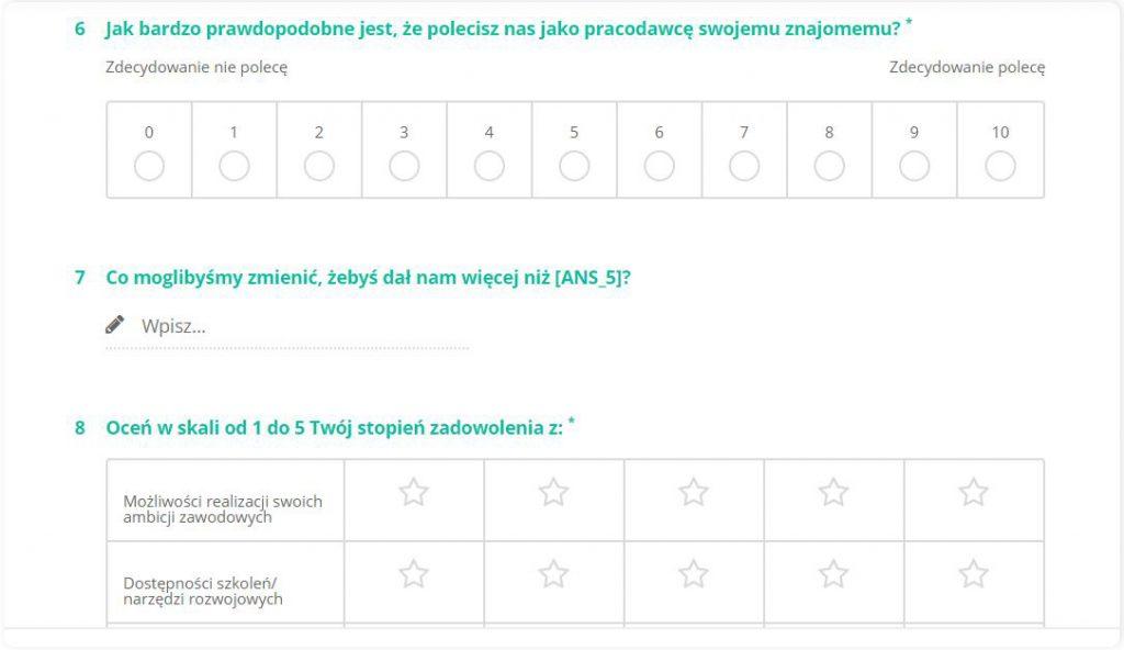 ankieta exit inerview przykład