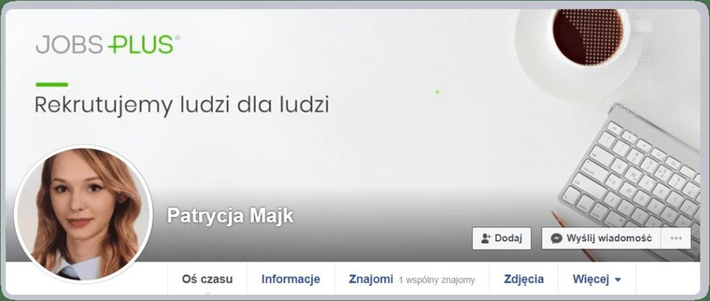 Profil rekrutera na Facebooku